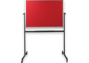 Double Sided Mobile Felt Pin Board on Castors