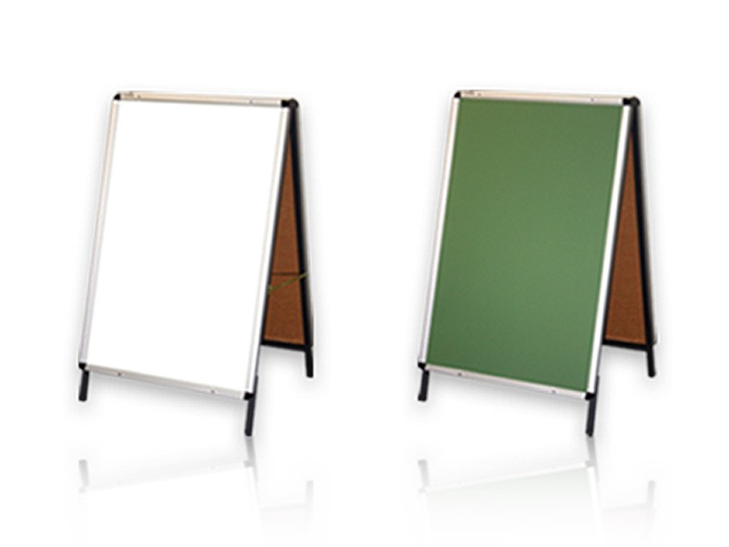 A Frame Whiteboards Sandwich Pavement Boards